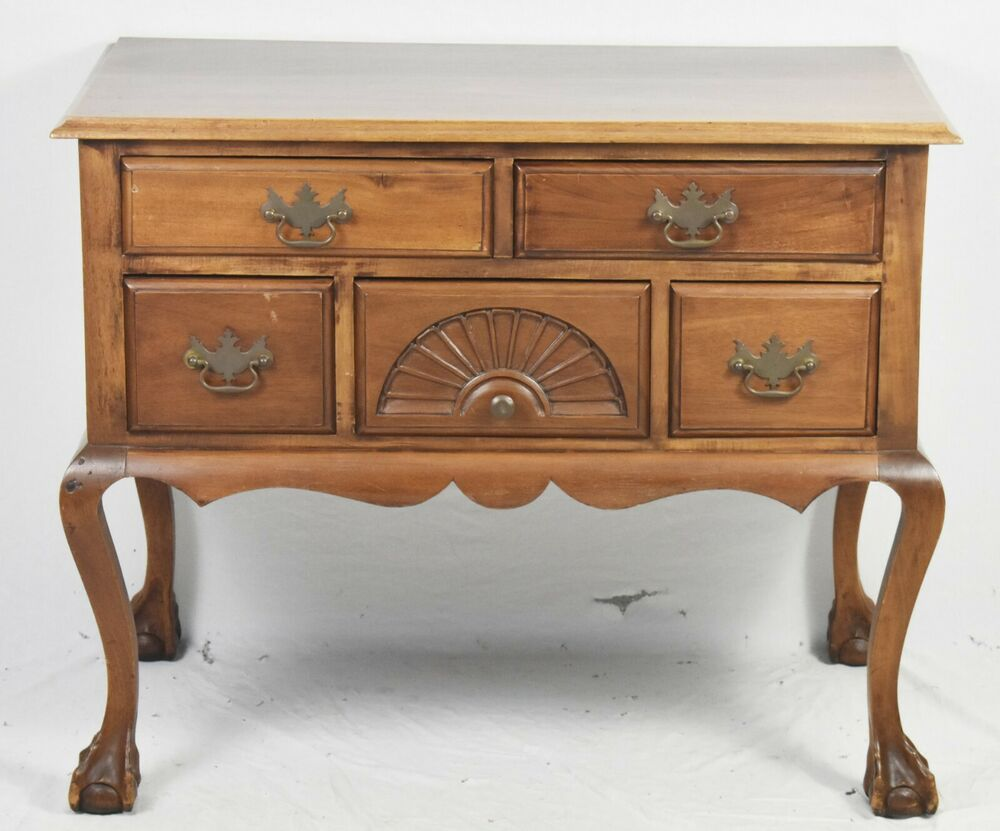 Lowboy Dresser Bench Made Solid Mahogany Chippendale Style Lowboy Dresser Williamsburg Style Ebay