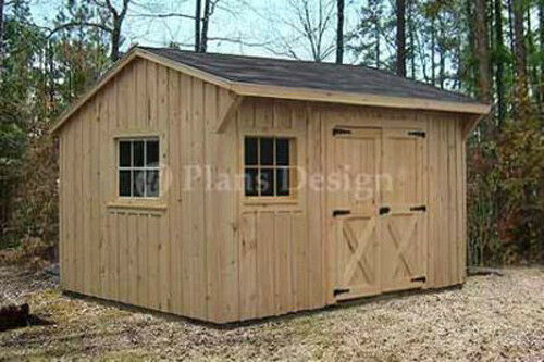 1039 X 1239 Utility Garden Saltbox Style Shed Plans