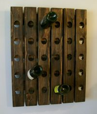 Handmade Riddling Wine Rack Wood Wall Hanging