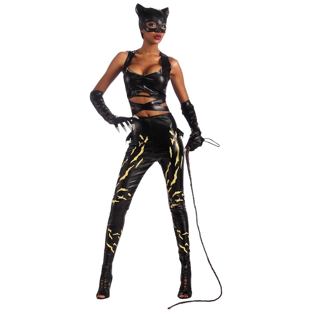 Deluxe Catwoman Costume Adult Womens Sexy Superhero