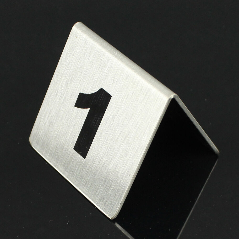 Lot 10pcs table number stainless steel plate holder