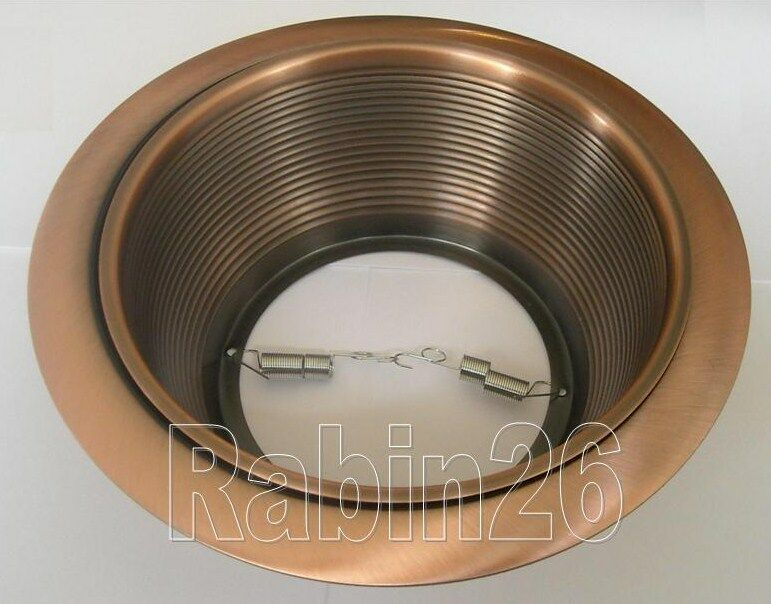 "Juno Recessed Lighting Trim 6"" Inch Recessed Light Copper Step Trim Baffle R30 Fits"