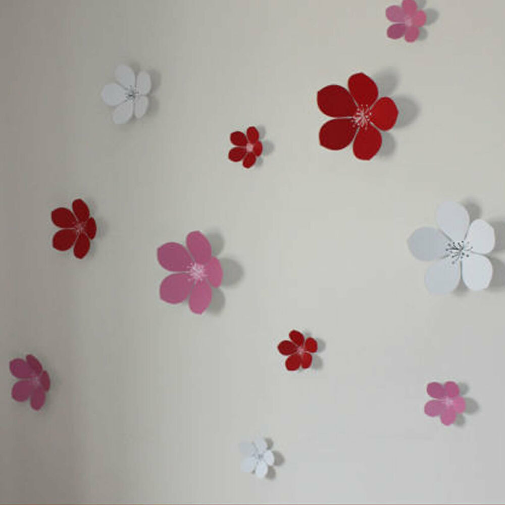 Baby Girl Nursery Removable Wallpaper 3d Flower Wall Stickers Wall Decors Wall Art Wall