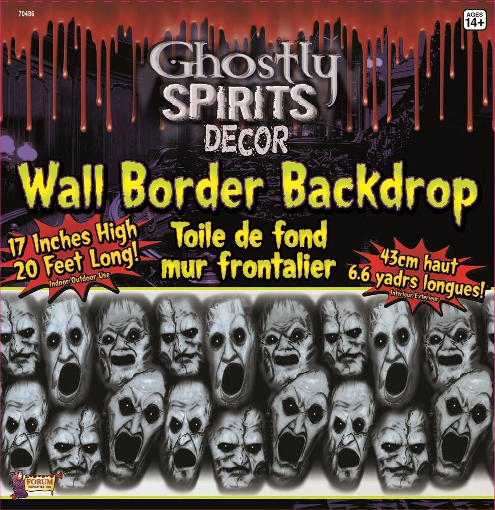 Halloween Decoration Interieur Spooky Horror Prop Ghostly Spirits Border Scene Setter Trim Halloween Decoration Ebay