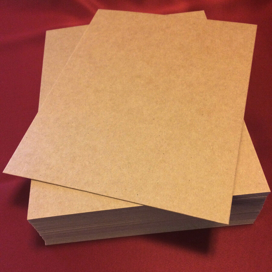 "Spanplatte Gewicht Chipboard 50pt Xtra Thick Rigid! 8.5x11"" Sheets 20,40,50"
