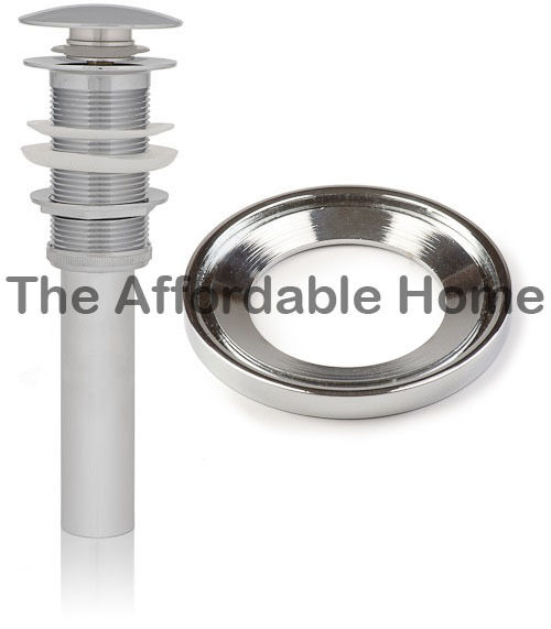New Vessel Sink Pop Up Chrome Drain No Overflow With
