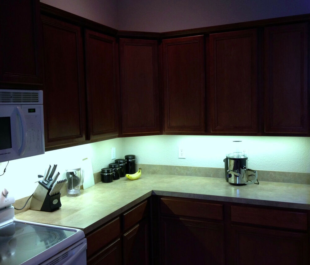 Kitchen under cabinet 5050 bright lighting kit cool white led strip