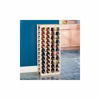 44 bottle wood wine rack with a solid wood top   eBay