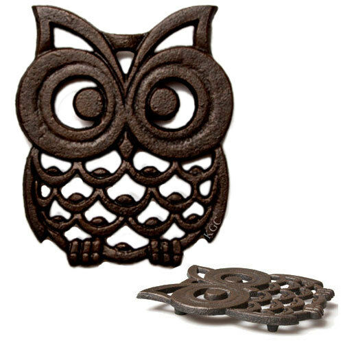Cast Iron Owl Shaped Trivet Owl Pot Holder Stand