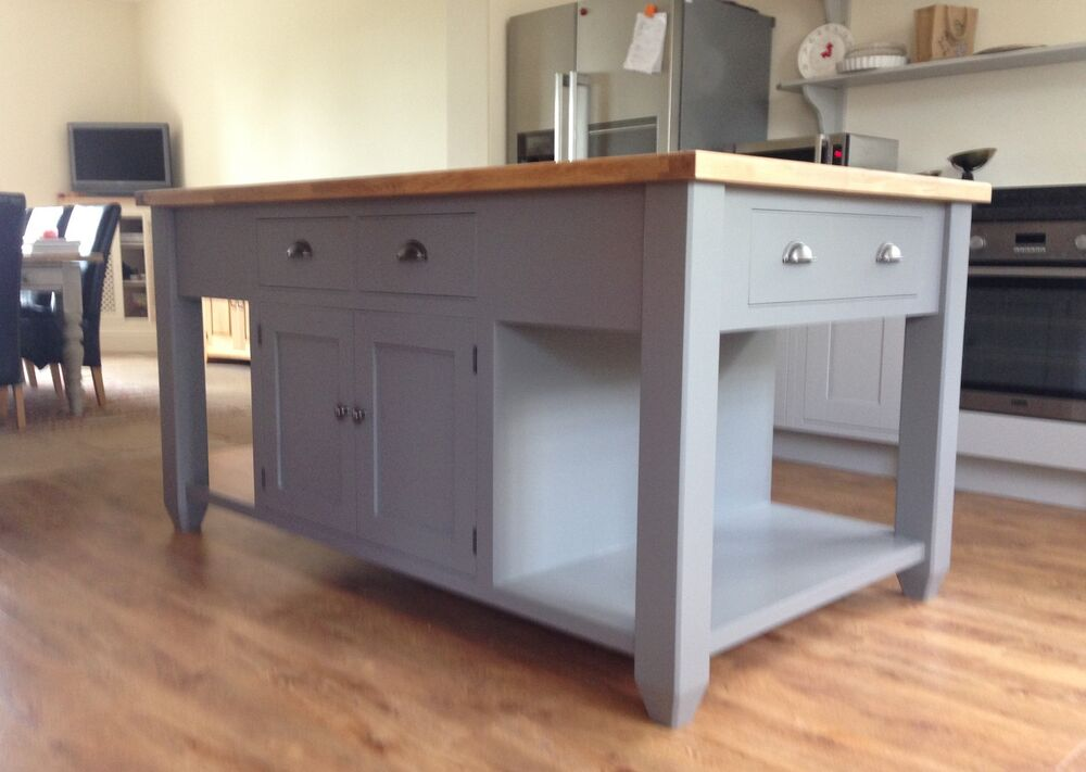 Kitchen Freestanding Island Painted Free Standing Kitchen Island Unit | Ebay