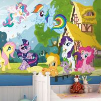 Large Wall Mural Photo My Little Pony Wallpaper Interior ...