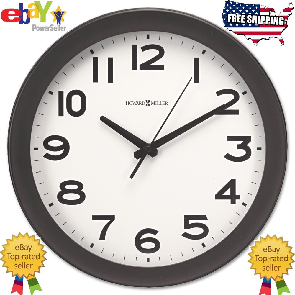 Black Wall Clock Howard Miller Kenwick Wall Clock 13 1 2
