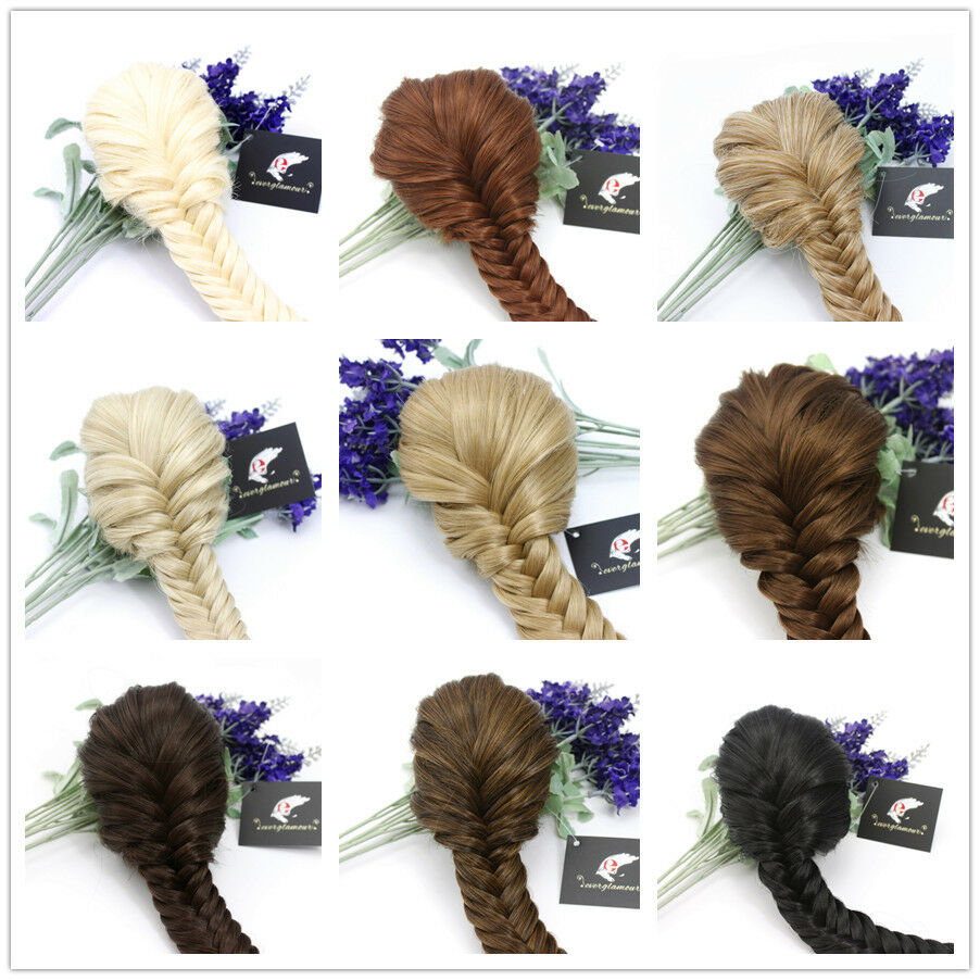Superior Quality Clip in Fishtail Plaited Pony Tail Hair