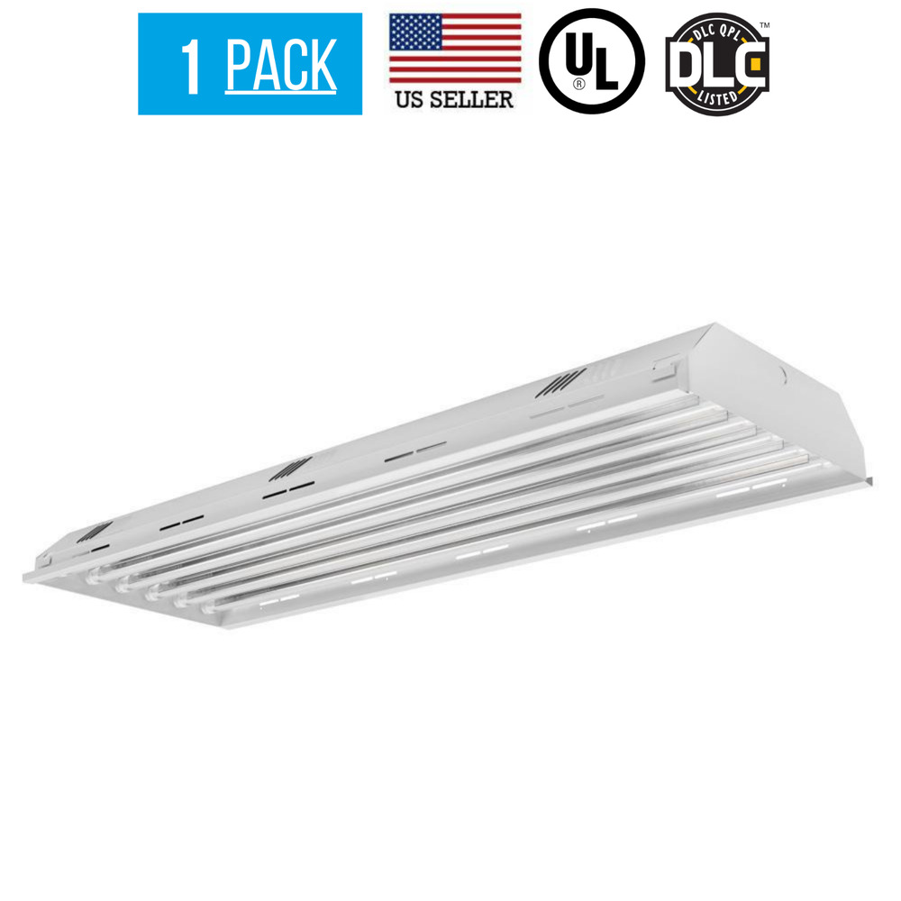 Led T8 6 Lamp Led Ready High Bay 18w 5000k T8 Bulbs Included Industrial Grade Dlc 605930523416 Ebay