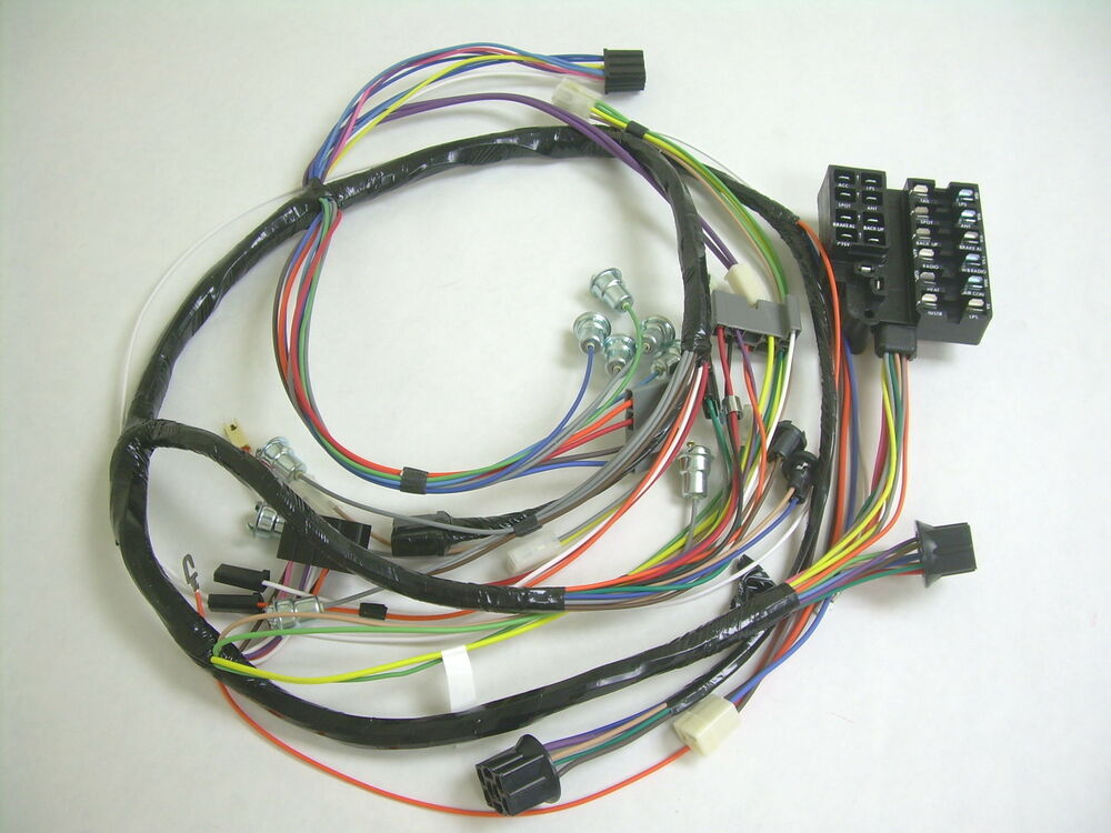 1960 Impala Belair El Camino Under Dash Wiring Harness with Fusebox