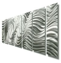 Modern Abstract Silver Metal Wall Art Sculpture Original