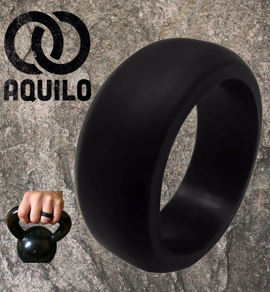 silicone wedding ring AQUILO Silicone wedding Ring Band rubber ring Crossfit Best Flexible Durable eBay