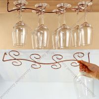 6/8 wine glass rack stemware hanging under cabinet holder