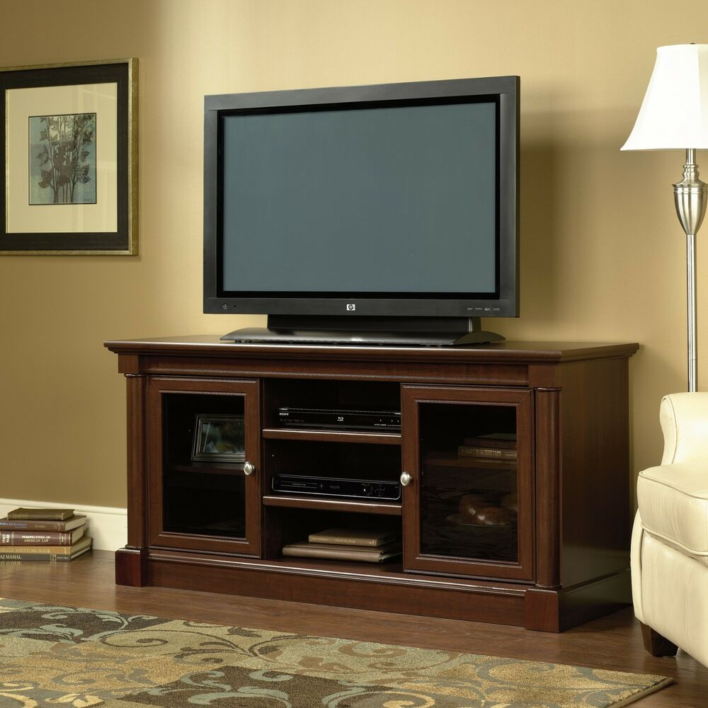 Console Cabinet Wood Tv Stand Entertainment Center Flat Screen Home