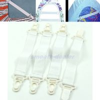 4pcs Elastic Fastener Fitted Bed Sheet Holder Sheet Grip ...