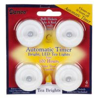 LED Tea light 4 pack Battery Included with Timer Feature ...