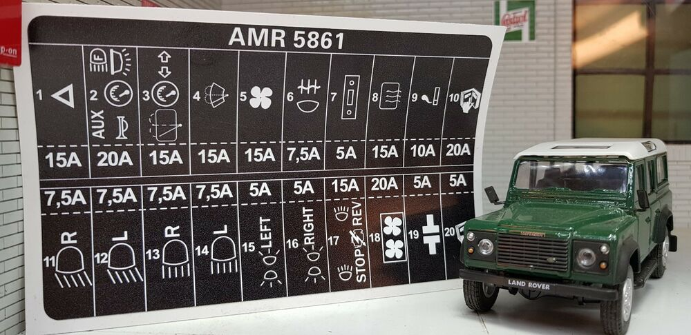 Land Rover Defender Fuse Box Index listing of wiring diagrams