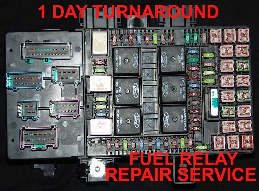 2007 ford f 250 fuse box layout