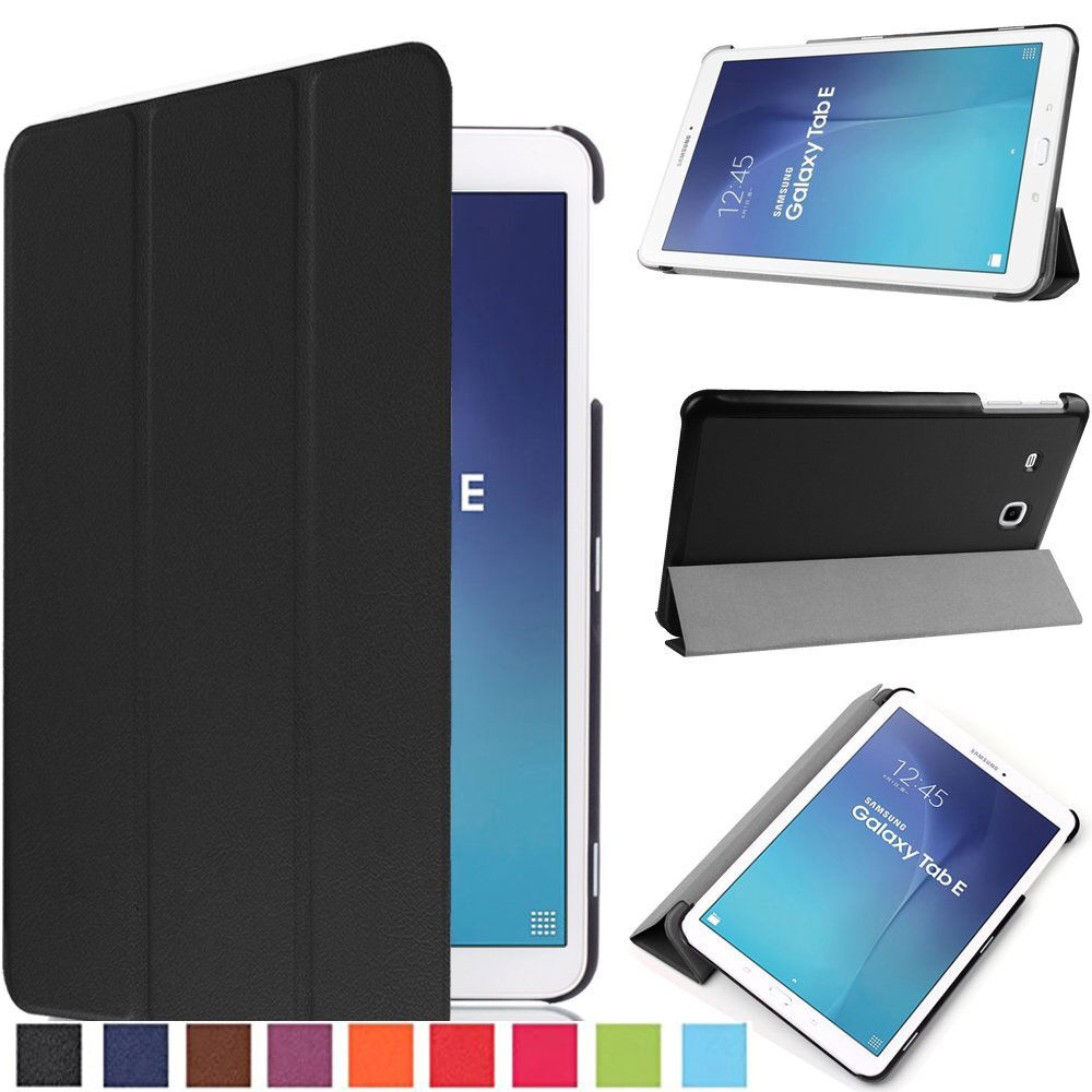 Slim Smart Cover Case Stand For Samsung Galaxy Tab E 9 6 Sm T561 Sm T560 Tablet Ebay - Samsung Galaxy Tab E