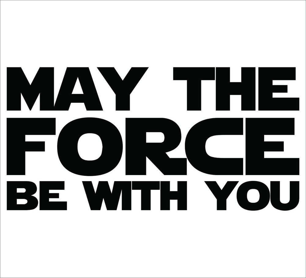 Car Wallpaper Clipart Star Wars May The Force Be With You Sticker Decal
