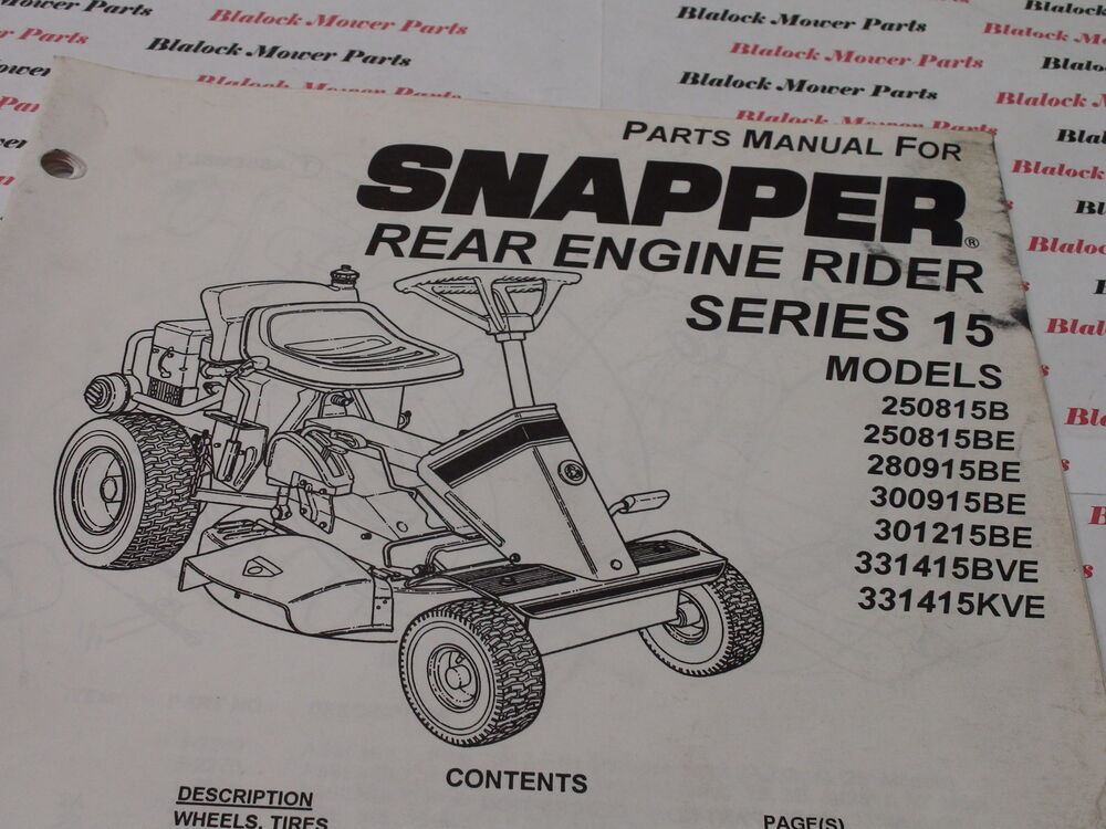 lawn mower engine manual