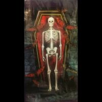 Gothic SKELETON COFFIN WALL MURAL Door Cover Haunted House ...