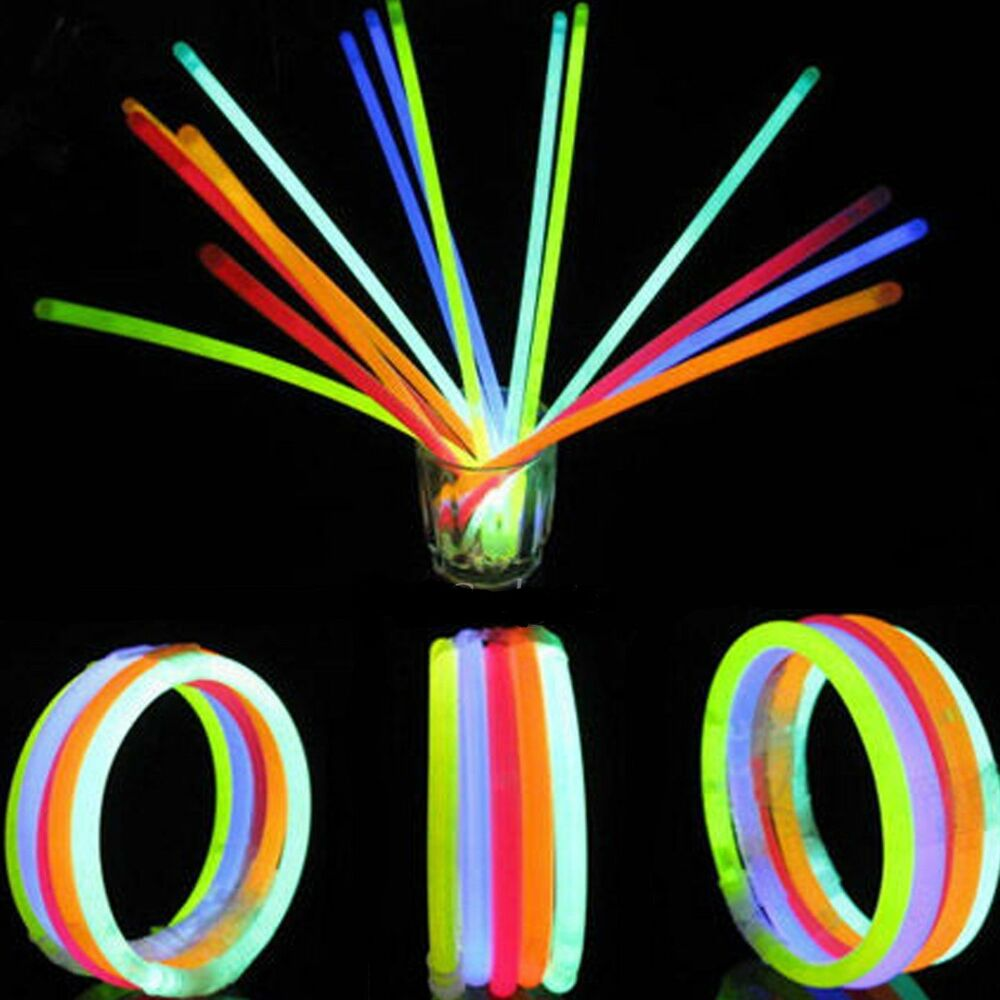100 X 8quot Glow Sticks Bracelets Necklaces Party Favors Neon