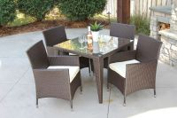 5 PC Standard Outdoor All Weather Wicker Rattan Table ...