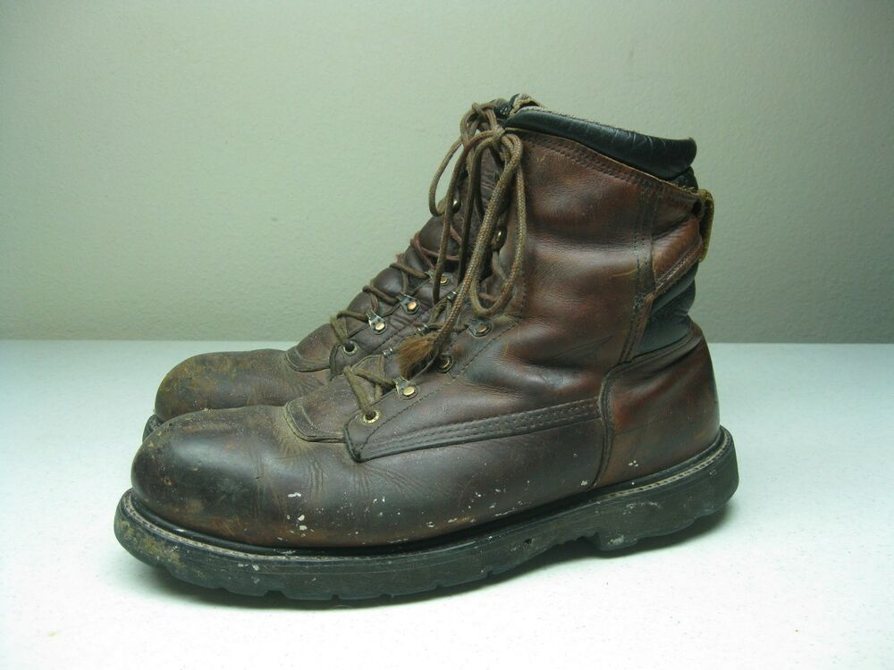 Brown Leather Made In Usa Red Wing Steel Toe Motorcycle