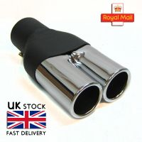 Twin Exhaust Pipe Double Tip Muffler Chrome Fits BMW E30