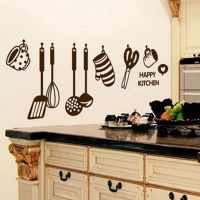 New Removable Happy Kitchen PVC Mural Decal Wall Stickers ...