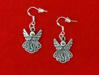 VINTAGE STYLE SILVER ANGEL EARRINGS~CHRISTMAS EASTER GIFT ...