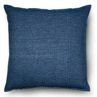 Blue Oversized Chambray Denim Throw Pillow
