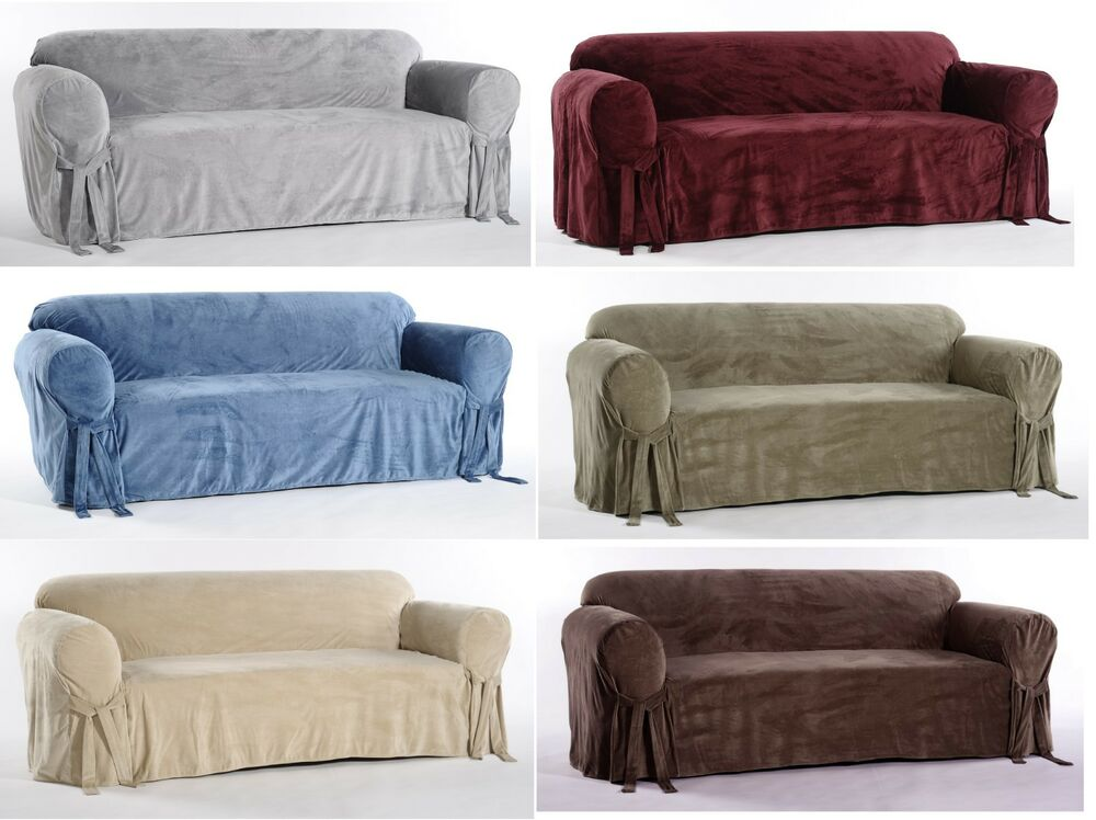 Sofa Velvet Slipcover Microfiber Plush Velvet Sofa Loveseat Arm Chair Covers