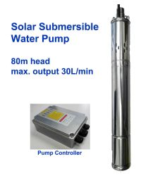Solar DC Submersible Water Pump head 80m 260ft 24V