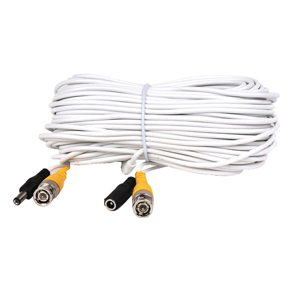 cctv security camera cable surveillance wire video bnc cord power dvr