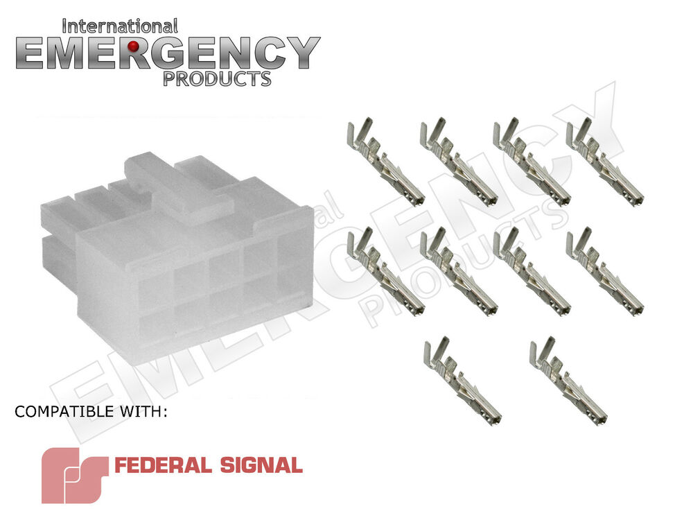10 Pin Connector Plug for Federal Signal PA300 Siren 69000 690001