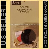 FREE S&H! CHAPTER MAINSTAYS 3-SPEED 4 WIRE CEILING FAN ...