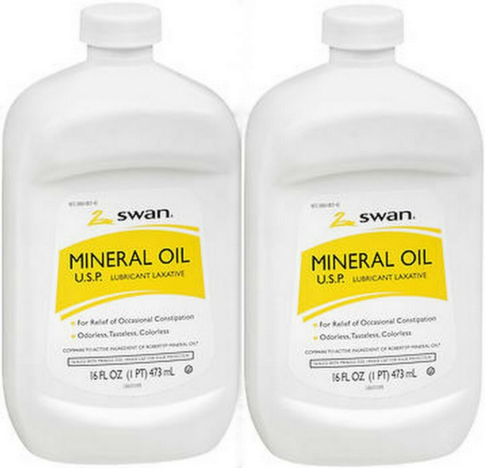 Mineral Oil Swan Lubricant Laxative Mineral Oil Odorless Tasteless Colorless 16oz 2 Pack Ebay