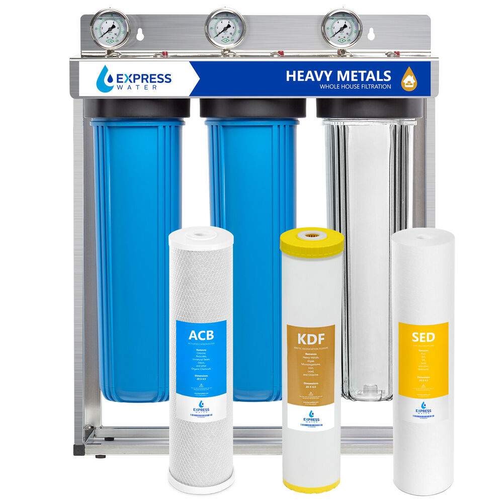 Carbon Water Filter System Whole House Water Filter System Carbon Kdf Sediment 3 Stage Filtration 4 5