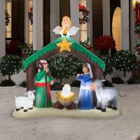 Christmas Inflatable Nativity Scene Decor Outdoor Garden ...
