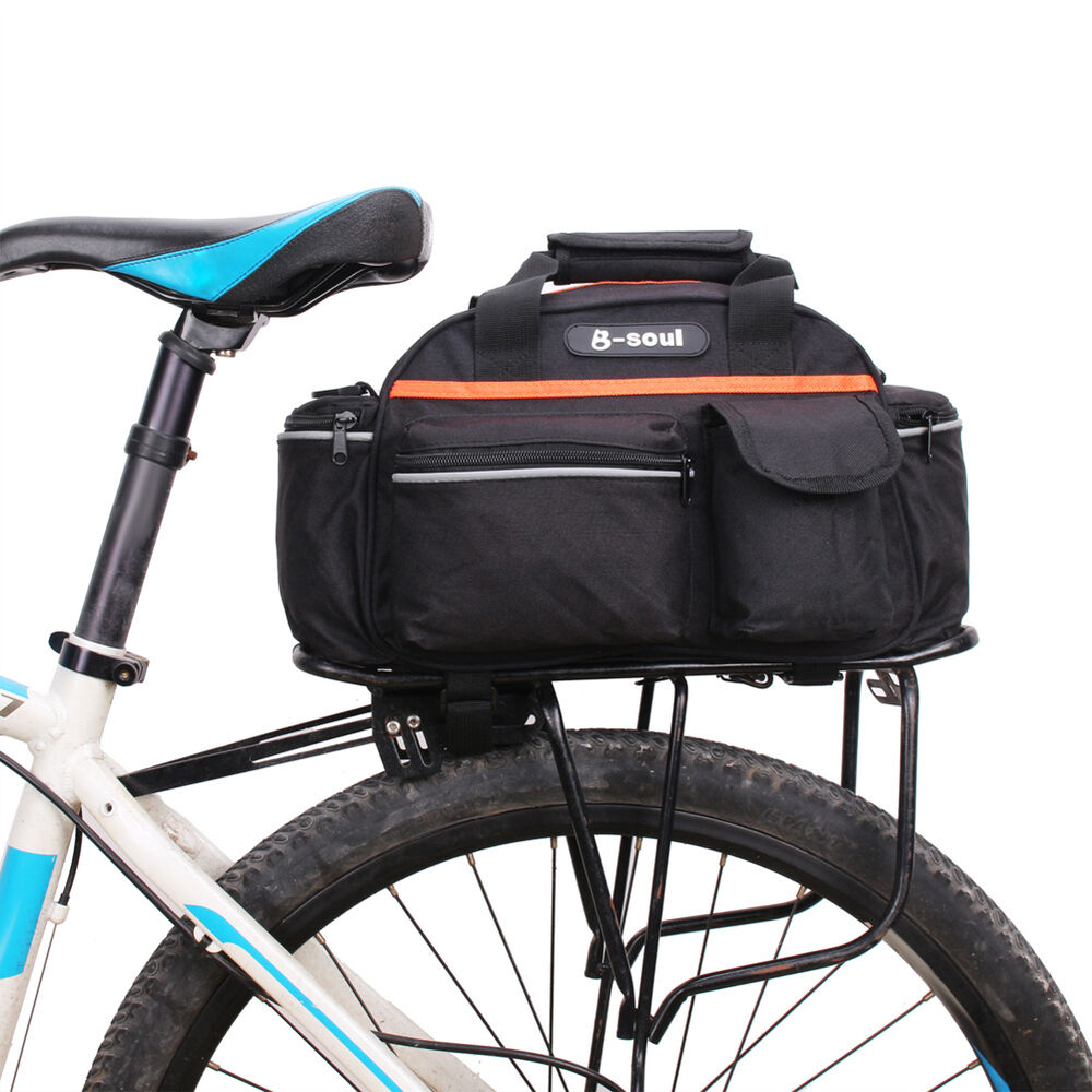 Bicycle Bike Cycling Pack Carrier Bag Rack Trunk Rear Seat