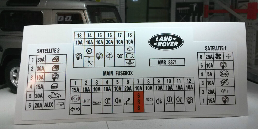 land rover discovery 300tdi fuse box