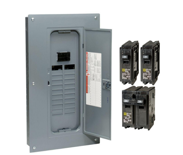 Circuit Breaker Box Panel Electrical 100 Amp 20 Space Indoor Fuse