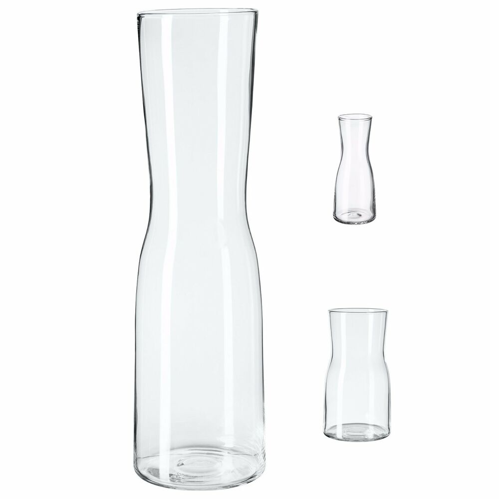 Glass Vases Ikea Tidvatten Clear Glass Flower Vase Various Sizes Minimalist Hand Blown Ikea Ebay